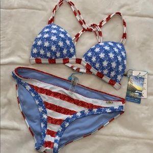Other - American flag patriot bikini